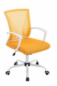 Sedia da ufficio Moderna in Rete con Base Bianca e Ruote Regolabile vari colori