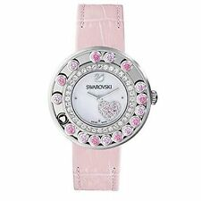 Mothers Day GIFTS Swarovski Pink Crystals Heart Ladies Watch # 5096032 NIB