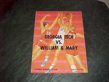 1963 William and Mary v Georgia Tech Basketball Program 2/3