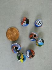 Vintage Millefiori Face Beads these 7 14mm Round