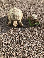 Stone Garden Ornament Mummy Tortoise With Baby Tortoise