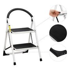 Ollieroo 2 Step Lightweight Folding Stool 330lbs Capacity Ladder Heavy Duty