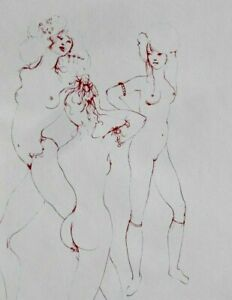 Great C.1960s French Surrealist Leonor Fini Original Pencil Signed Etching