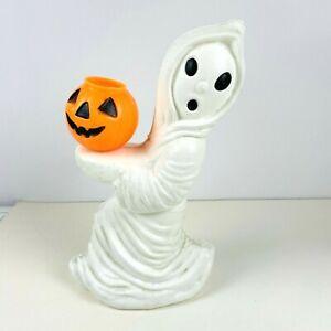 Vintage General Foam Plastics Halloween Ghost Holding a Jack O Lantern Blow Mold