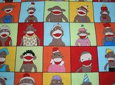 NEW~Moda  YEARBOOK Sock Monkey Fabric~ Fat Quarter