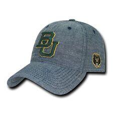 sports shoes d1d42 bfa71 Baylor University BU Bears NCAA Cotton Denim Structured Baseball Ball Cap  Hat