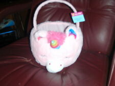 COTTONDALE PINK UNICORN PLUSH BASKET W/HANDLE FOR BIRTHDAY,BABY SHOWER NEW W/TAG
