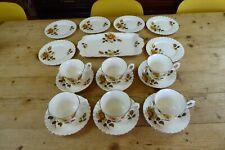 Vintage Staffordshire Fine Bone China Tea Set 19 Pieces Yellow Roses