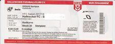 Ticket 2017/18 Hallescher FC HFC - SV Wehen Wiesbaden Eintrittskarte Sammler