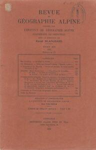 Blanchard : revue de géographie alpine, tome 13, fascicule 4, 1925