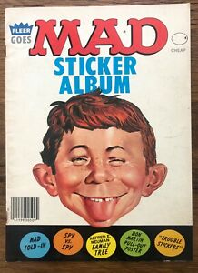 Fleer Goes Mad Sticker Album 1983 with Some Stickers