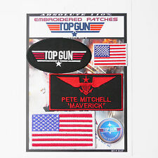 "TOP GUN ""MAVERICK"" FANCY DRESS Iron-On Patch Super Set #127 - FREE POSTAGE!"