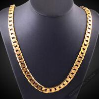 18k Goldkette 4MM Königskette extra dick Panzerkette vergoldet Herren Damen