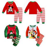 Kids Baby Mickey Mouse Pyjamas Set Sleepwear Long Sleeve Casual Outfit Nightwear