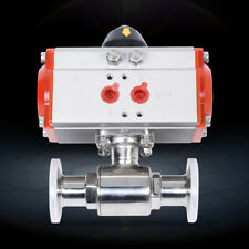 Pneumatic Ball Valve 1 Pneumatic Air Actuated 316l Stainless Steel Ball Valve