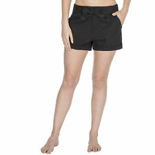 Ladies Womens Girls Poplin Shorts Summer Holiday Hot Pants with Belt Sizes 8-22