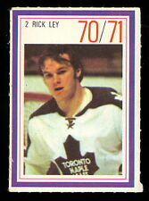 1970-71 ESSO POWER PLAYERS NHL #2 RICK LEY EX-NM MAPLE LEAFS UNUSED STAMP