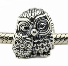 Brand New Genuine Authentic S/Silver Pandora CHARMING OWLS Charm bead - 791966