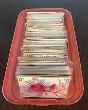 ~Huge~Estate-Lot-of 150~Airbrushed~Velvet~Embossed~Vintage~Greeting-Postcards-