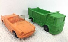 "Tomte Laerdal # 26 + #6 orange made in  Norway 3.5"" lot 2 Transport Truck + Car"