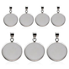 20pcs/lot stainless steel blank Cabochon Base Setting Charms Pendant 8/10/12mm