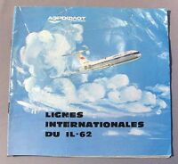 Advertising IL-62 Brochure Booklet Russian Plane Aviation Airplane Old Vintage