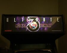 Ultimate Mortal Kombat 3 Arcade Marquee Midway Translight Header Sign Backlit