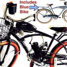 *Blue Bomber* Motorized 66cc Engine & Retro Cruiser Bicycle - Motor Bike Kit