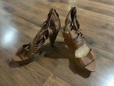 Miss Sixty Heels Sara Woven Shoes Womens Size 38 7.5