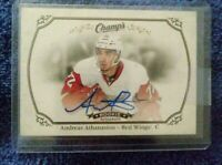 Andreas Athanasiou Signed 2015/16 Champs Rookie Card #159