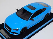1/18 MotorHelix Audi RS7  in Baby Blue with Black Wheels
