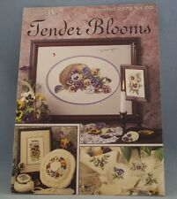 Leisure Arts Tender Blooms Leaflet #2170 Cross Stitch Pansy Flowers Pattern