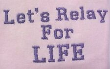 Let's Relay for Life Sweatshirt Purple Breast Cancer Pink Crew Unisex Large New
