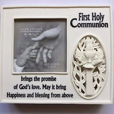 "PHOTO FRAME Light Up Juliana Resin First Holy Communion 3""x3"" Picture Recess"