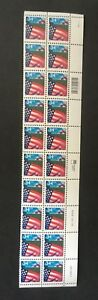 #3469 Flag Over Farm Water Activated gum plate block of 20  MNH OG