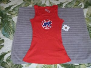NEW NWT WOMENS CHICAGO CUBS BASEBALL JERSEY SHIRT TANK TOP RED 5TH & OCEAN