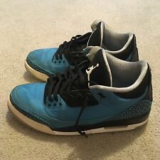 Nike Air Jordan 3 III Retro Powder Blue Black Grey 136064-406 Mens Shoes Size 13
