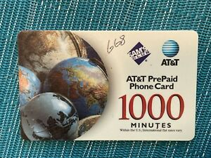 AT&T Prepaid Phone Card with 668 Minutes Remaining