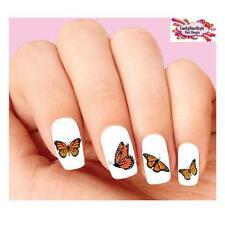 Waterslide Butterflies Nail Decals Set of 20 - Monarch Butterfly Assorted