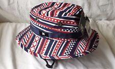 DC SHOE COMPANY Airhead L/XL bucket hat (RED, WHITE, BLUE) RARE HAT!