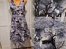 NWT Women's Folter Cemetary Dress Be Retro Ghoul Bats Headstones Crows Sz M