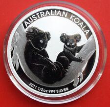 """Australien: 1/2 Unze """"Koala"""" 2011 Silber, 50 Cents, ST-BU #F2128"""