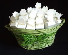 40 Country wedding confetti cones with basket real rose petals biodegradable