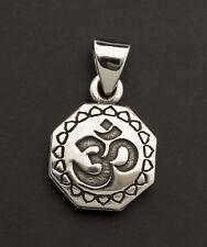 Pendentif tibétain Om Double Vajra Dorje Argent 925 7.8g Bijoux Tibet 25856 L14