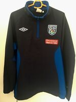 WEST BROM FOOTBALL SOCCER TRAINING ZIPPER JACKET ADULT M WEST BROMWICH ALBION