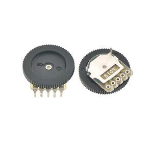5PCS 5-Pin B103 10K Linear Stereo Gear Potentiometer 16*2MM Volume Switch
