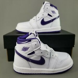 Nike Air Jordan 1 Retro High OG TD Court Purple Shoes 8C Sneakers CU0450-151