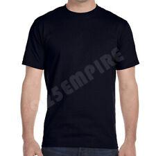 3/6 Pack Men's 100% Cotton Black Crew Neck T-Shirt Undershirt S-XL