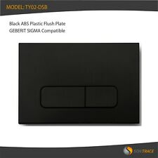 BLACK ABS FLUSH PLATE, GEBERIT SIGMA 10, 20, 30 COMPATIBLE SMALL SQUARE BUTTONS