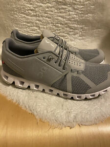 On Men's Gray Cloud Running Shoes, US Size 10.5